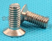 不锈钢沉头十字槽机螺钉w